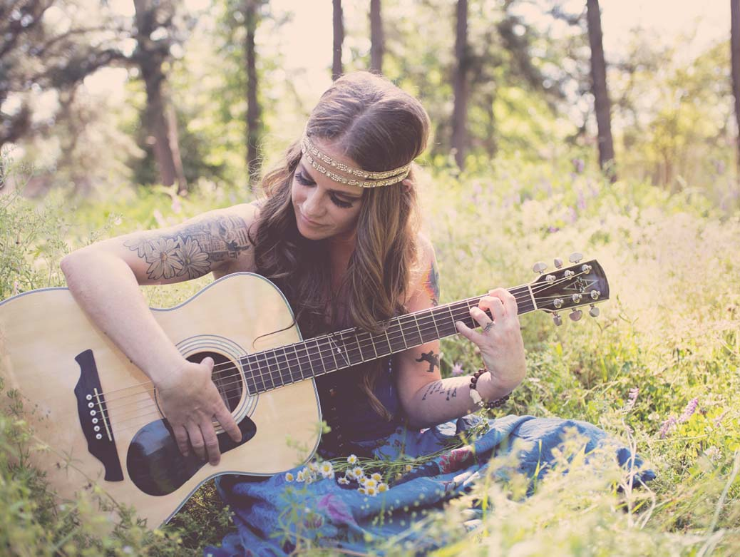 Girl with guitar quotes